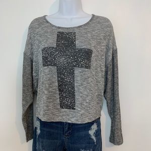 Cross knit top by Delia*s. Size small